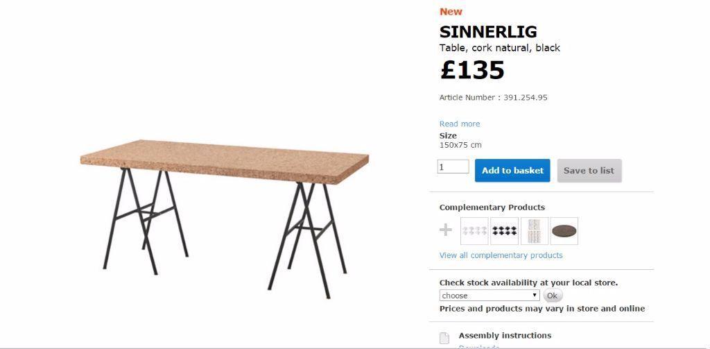 IKEA SINNERLIG dinning table in Sheffield South  : 86 from www.gumtree.com size 1024 x 503 jpeg 33kB