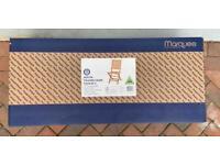 Wooden Garden Chairs x 2 - BRAND NEW IN BOX