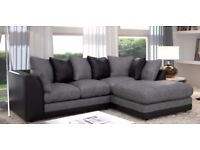 💖💥💥Left/Right Hand Side Avlbl💥💥❤New Jumbo Cord 'Double Padded' Byron Corner Or 3+2 Leather Sofa
