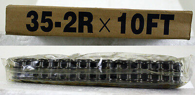 10ft Roller Chain 35-2 W Master Connecting Link New In Box