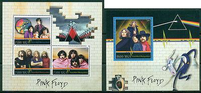 Music Pink Floyd Dark Side Of The Moon Syd Barrett Madagascar MNH stamp set