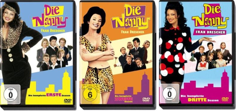 9 DVDs * DIE NANNY - STAFFEL / SEASON  1 - 3 IM SET # NEU OVP <