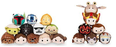 Disney Star Wars Original &Episode 1 Phantom Menace Tsum Tsum Complete Set of 19