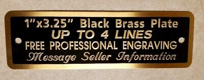 Engraved Black Brass Plate, 1