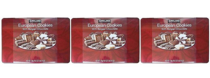 Kirkland Signature European Cookies with Belgian Chocolate  (Pack Of 3)