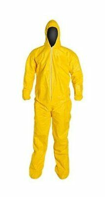 Dupont Qc122 Tychem Tyvek Coverall Chemical Resistant Yellow Large 1 Suit