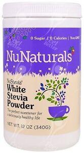 White Stevia Powder by NuNaturals, 340g;- CRAZYVALUE!!!