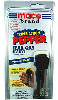 Mace DELUXE Triple Pepper Spray Self Defense PROTECTION 18G SEE RESTRICTIONS  - $9.99