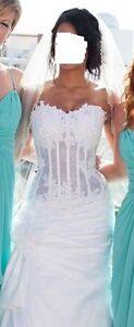 Beautiful Couture Wedding Dress Size 2-4