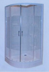 """BRAND NEW ROUND ACRYLIC SHOWER 38"""" X 76-5/8"""" COMPLETE"""