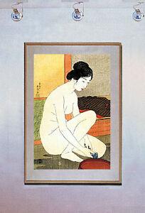 Woman-at-Bath-15x22-Hand-Numbered-Ltd-Edit-Japanese-Print-Goyo-Asian-Art-Japan