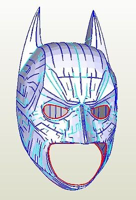 DIY Batman Dark knight Helmet Cowl Pepakura Cosplay free postage
