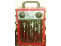 Garage Workshop 3kw fan heater