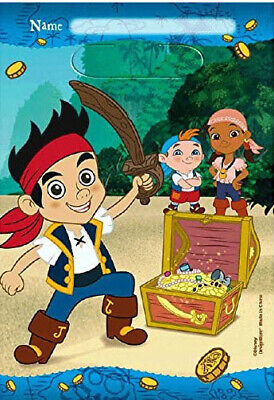 JAKE Neverland Pirates Birthday Party treat LOOT BAGS supplies 8pcs Izzy Cubby