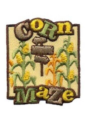 Boy Girl cub CORN MAZE Tour Visit Race Patches Crests Badge GUIDE SCOUT arrows