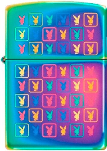 Zippo Playboy Multi Monogram Spectrum Windproof Lighter NEW RARE
