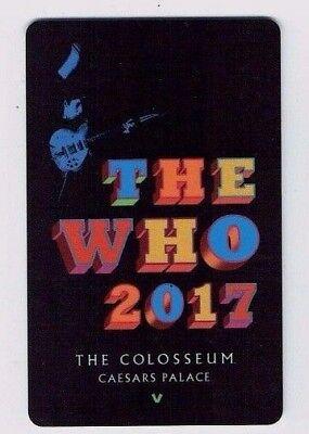 THE WHO Pete Townshend LAS VEGAS Room KEY Card CAESARS PALACE Casino Hotel ~