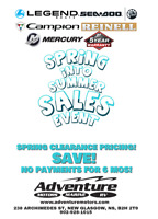 SPRING INTO SUMMER SALES EVENT! HAVE A LOOK $1000.00 BOAT SAVING