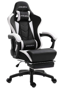 NEW!  Gaming Chair with Footrest & Lumbar Massage