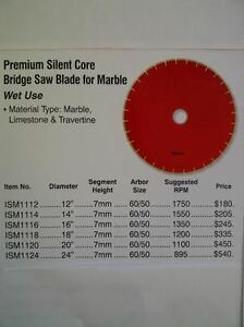 Terminator 16'' Bridge Saw Blade for Marble