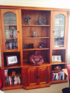 Solid Wooden Display Unit  also Bookcase. New Lambton Heights Newcastle Area Preview