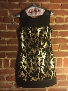 Max and Cleo black and gold sequin dress (BCBG)