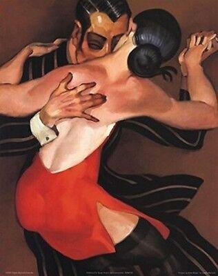 Femme au Robe Rouge by Juarez Machado 20x16 Art Print Poster Woman in Red Dress