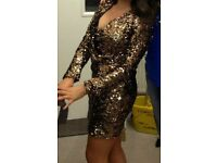 Stunning gold glitter dress for sale!