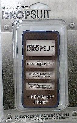 OEM  Body Glove Dropsuit Case Cover For Apple Iphone 5 AT&T Verizon Sprint Navy