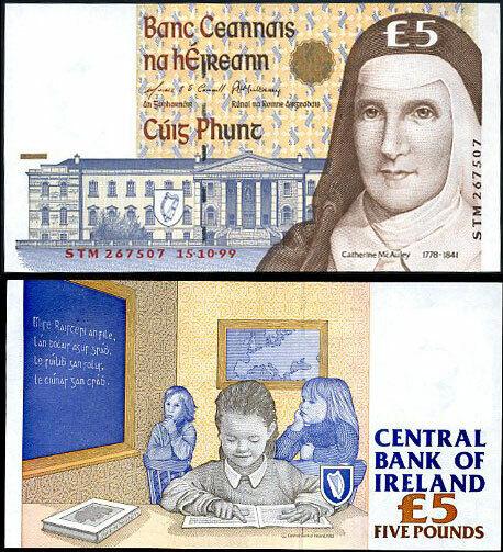 IRELAND 5 POUND 1999 P 75 UNC