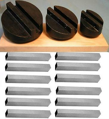 3pc 34 Shank 1-12 2 2-12 Fly Cutter Set With 516 12pc Square Tool Bits