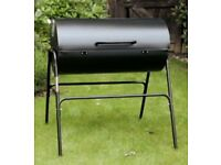 Oil Drum Charcoal BBQ with Lid