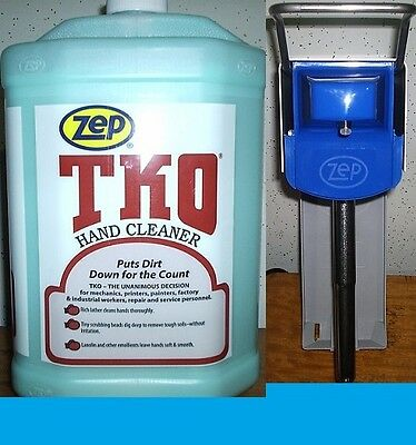 ZEP TKO HAND CLEANER 4 GALLON CASE  + ZEP® WALL DISPENSER WITH FREE SHIPPING