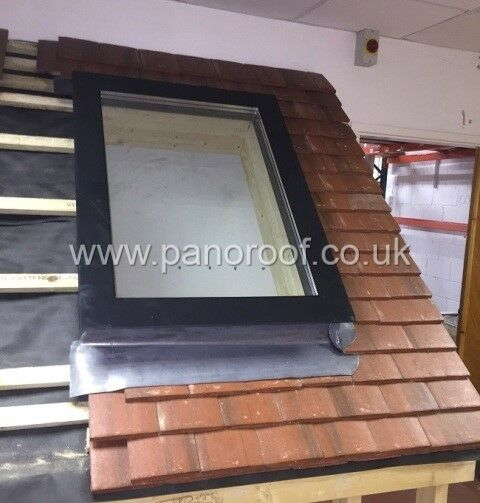 Panorrof skylight fitted to pitched roof