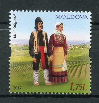 Moldova 2017 MNH Traditional Costumes Gagauz Gagauzia 1v Set Cultures Stamps