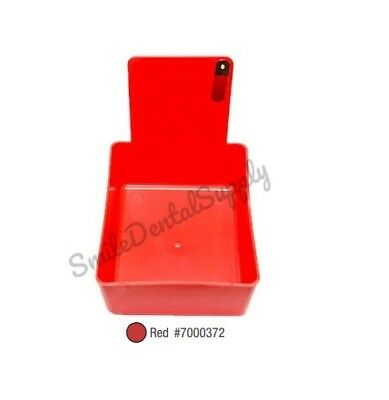 Dental Laboratory Working Case Plastic Pan Tray With Clip Holder 1x Red Pans