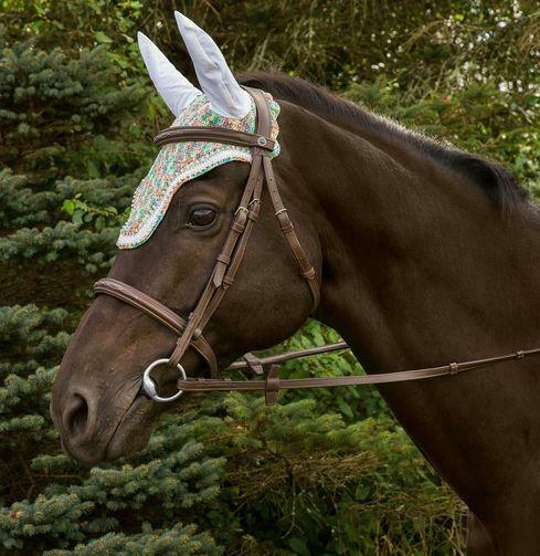 Equine Couture Rainbow Fly Bonnet with Crystals                              ...