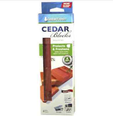 (Four Count Large Size Cedar Blocks HOUSEHOLD ESSENTIALS)