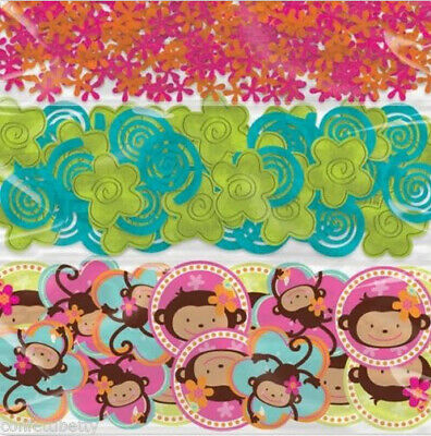 MONKEY LOVE happy birthday party supplies TABLE CONFETTI 1 pack 3 styles ()