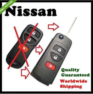 Nissan 3 Button  Remote Flip Key Case shell - T30 X-Trail Xtrail
