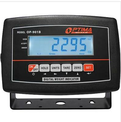 Lcd Indicator Optima Op-901b Display For Floor Scale Rechargeable Bat Power Cord