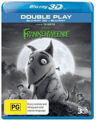 Disney Frankenweenie 3D & 2D Bluray Region Free ABC New