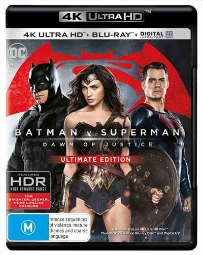 Batman V Superman - Dawn Of Justice : NEW 4K Blu-Ray Ultra HD