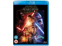 Brand New Sealed Star Wars: The Force Awakens Blu-Ray DVD