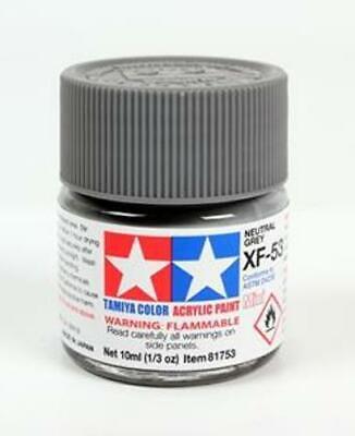 Tamiya 81753 Acrylique Modèle Peinture XF-53 Neutre Gris 10ml Pot T48 Après