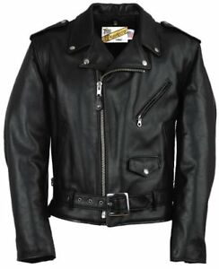 Manteau en cuir style Perfecto leather jacket pref. Schott