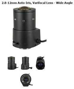 2.8-12mm Auto-Iris, Varifocal Lens - Wide Angle CCTV Camera Lens