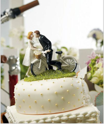 Fashion Cake Toppers Bicycle Groom And Bride Funny Wedding Cake Toppers Topper Ebay