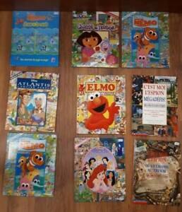 Plusieurs livres cherche et trouve ( 8$ chacun) Nemo, Dora