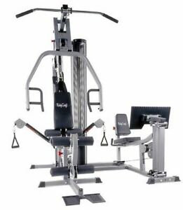 complete gym with leg press